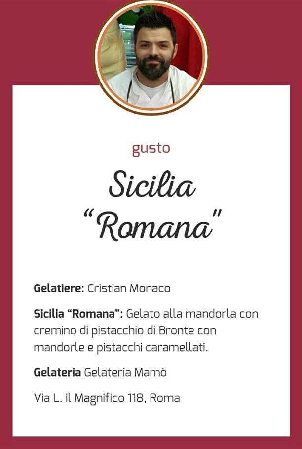 Gusto di gelato Sicialia Romana - Cristian Monaco