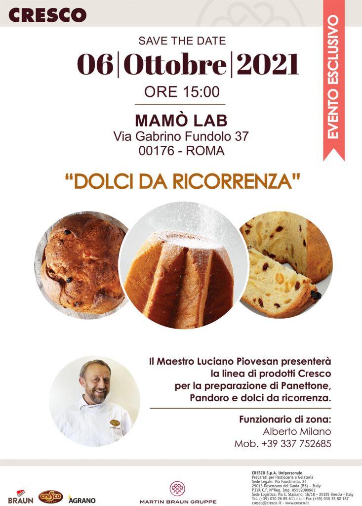 Mamò Lab - Evento - Dolci da Ricorrenza Piovesan Cresco - 06-10-2021