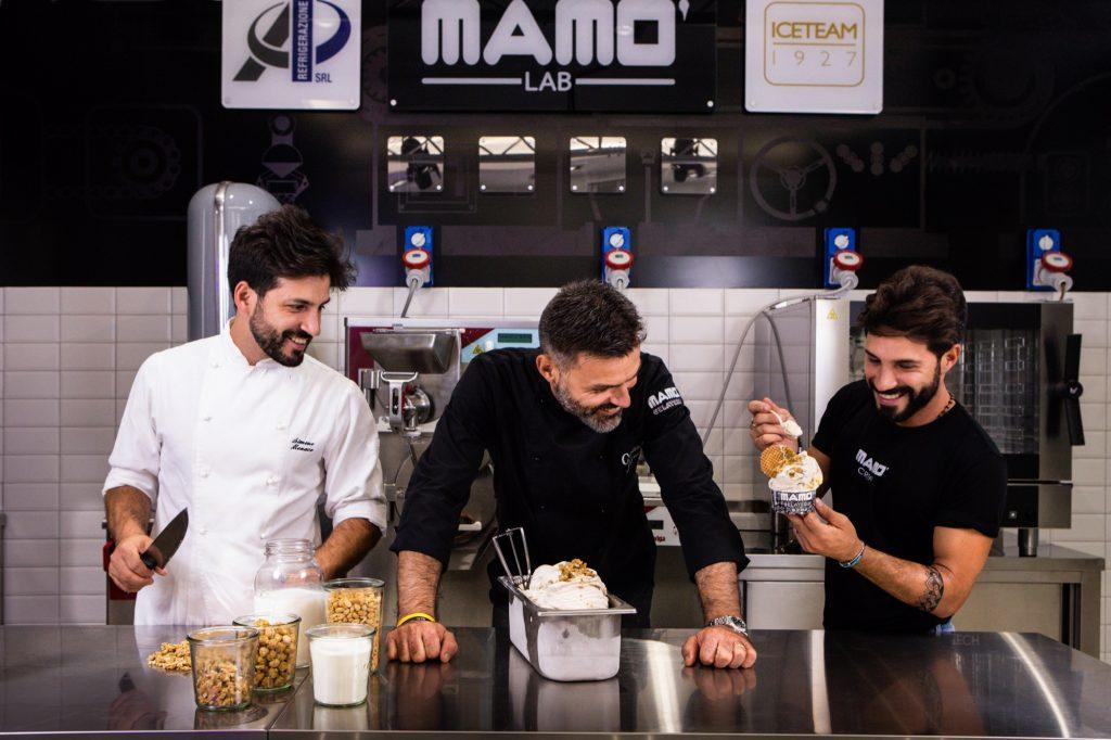 Mamò Lab, il salotto del gelato artigianale. Fratelli monaco.