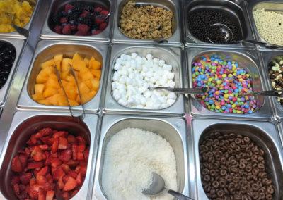 Gelateria Mamo' - Yogurt con frutta fresca, smarties, cocco